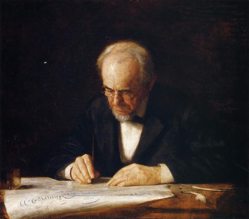 Thomas-Eakins-The-Writing-Master-The-Artist-Father